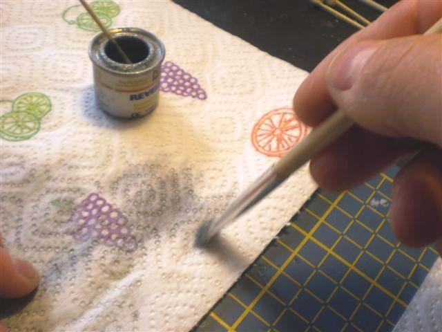 Faire un brossé a sec alu sur un châssis (dry-brush) Mercur18