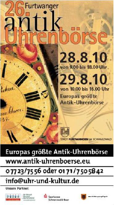 Bourse horlogère de Furtwanger : c'est bientôt Bourse10