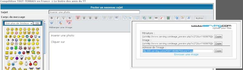 tuto: comment inserrer une image sur le forum - Page 2 Insere13