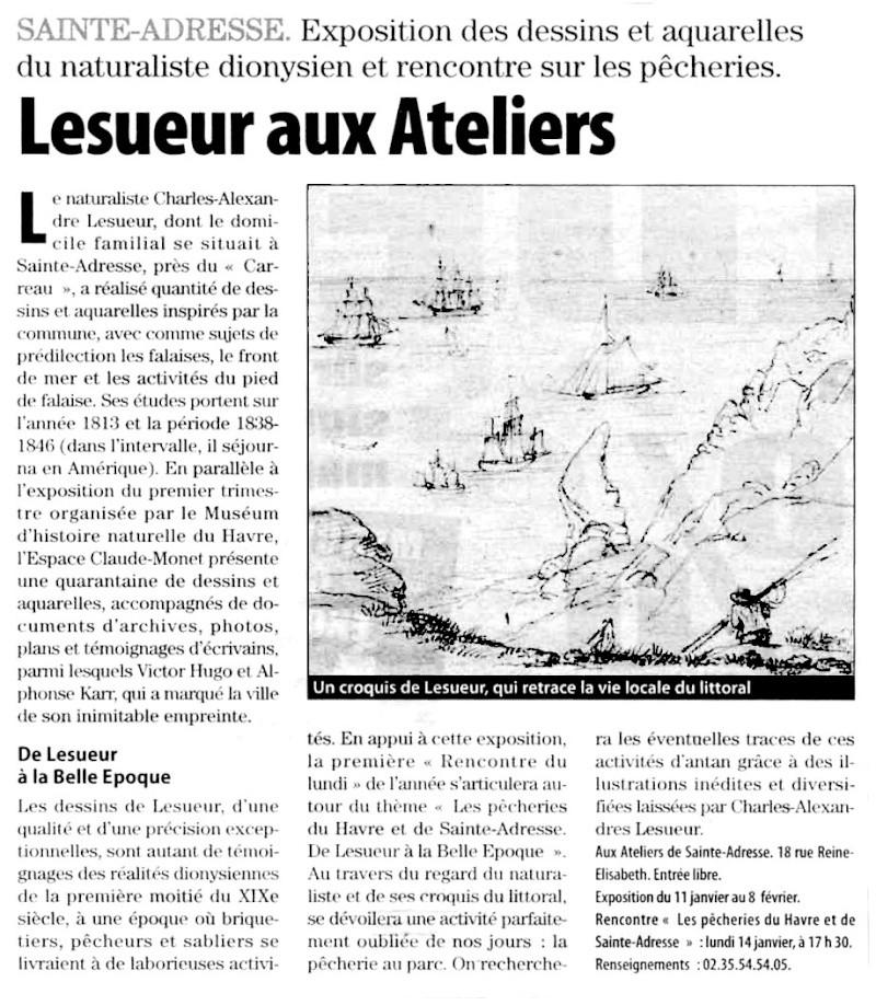 Sainte-Adresse - Naturaliste Charles Alexandre LESUEUR Lesueu10