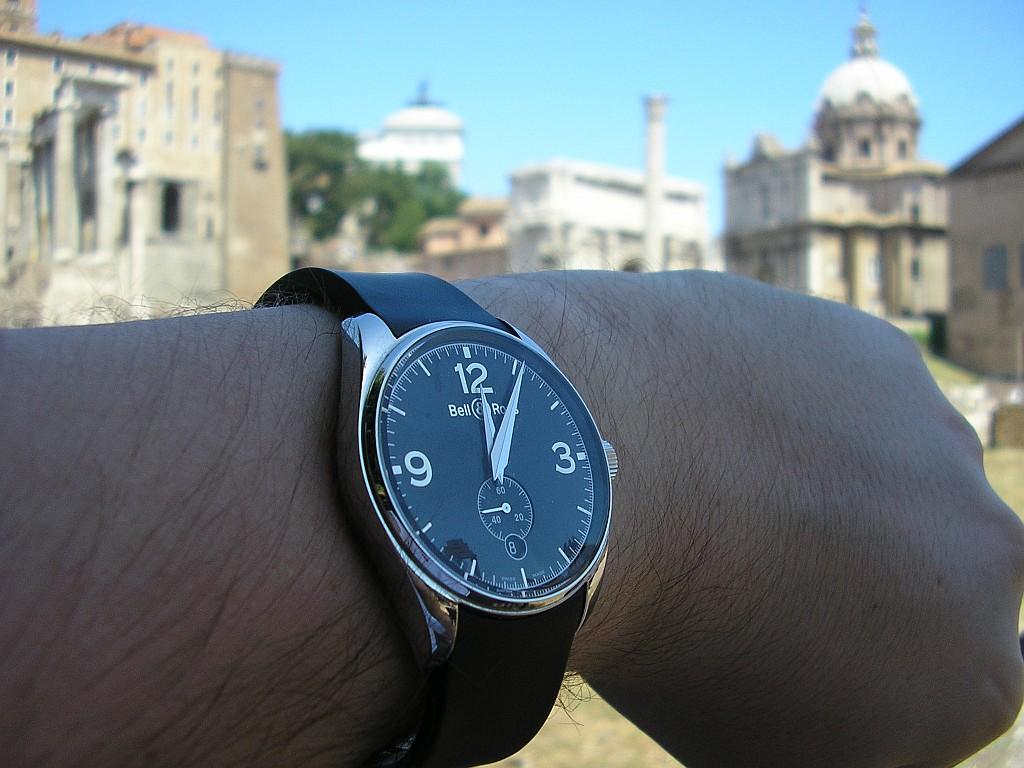 feu de chronos cadran noir Rome0210