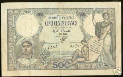 Emissions d'Algérie en billet avant 1962 110