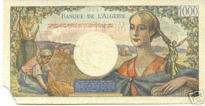 Emissions d'Algérie en billet avant 1962 49fa_110