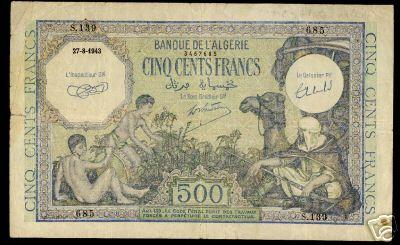Emissions d'Algérie en billet avant 1962 P9311