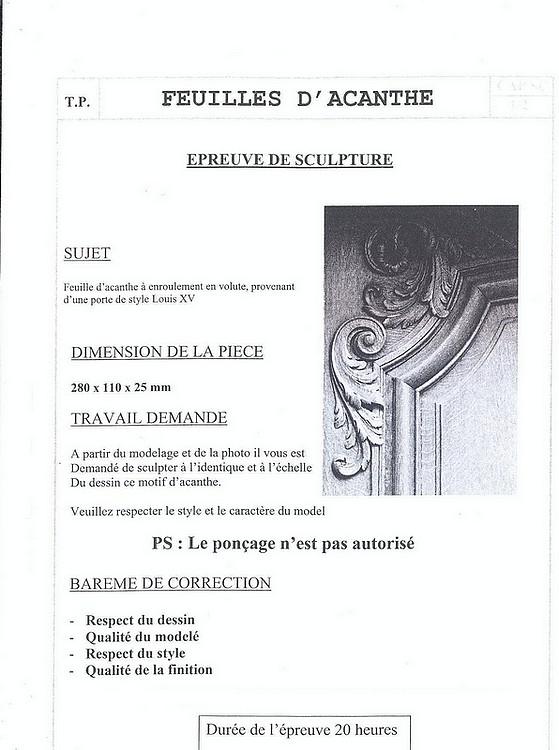 Modéles d'épreuves de C.A.P Feuill12