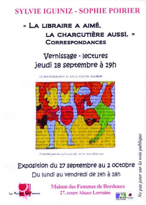 Jeudi 18/09/08 Vernissage-Lectures La libraire a aimé 20080912