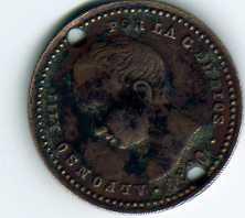 Reproduc. sobre 50 cts. Ptas. de Alfonso XIII (1900 d.C) Img20510