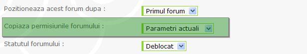 Noutati: formular de contact, favicon, copierea permisiunilor unui forum la altul, etc Param110