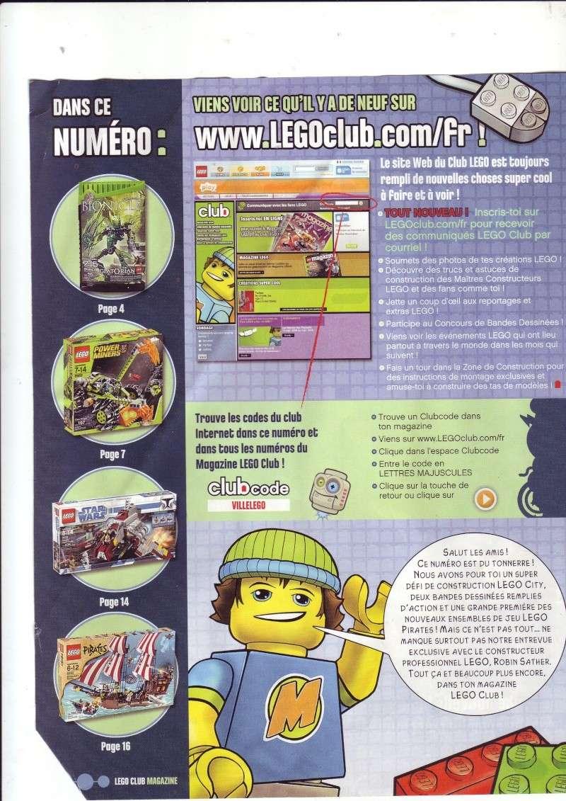 [Comics] VF de la 1ère BD 2009 «les sable de bara magna» et du LEGO Magazine Save0011