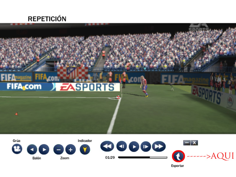 Como Exportar una Repeticion de FIFA08 Captur11
