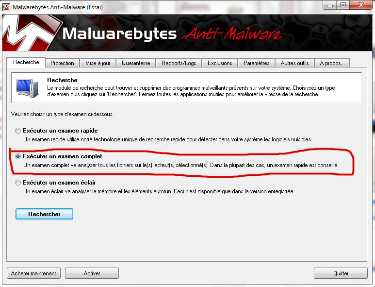 Se débarrasser de Security Live Premium (ou Platinum) Malwar10