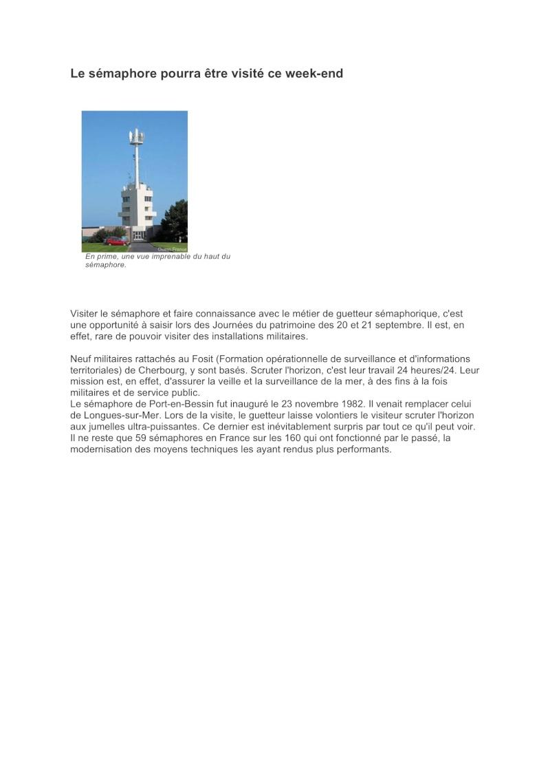 SÉMAPHORE - PORT EN BESSIN (CALVADOS) Port_e10