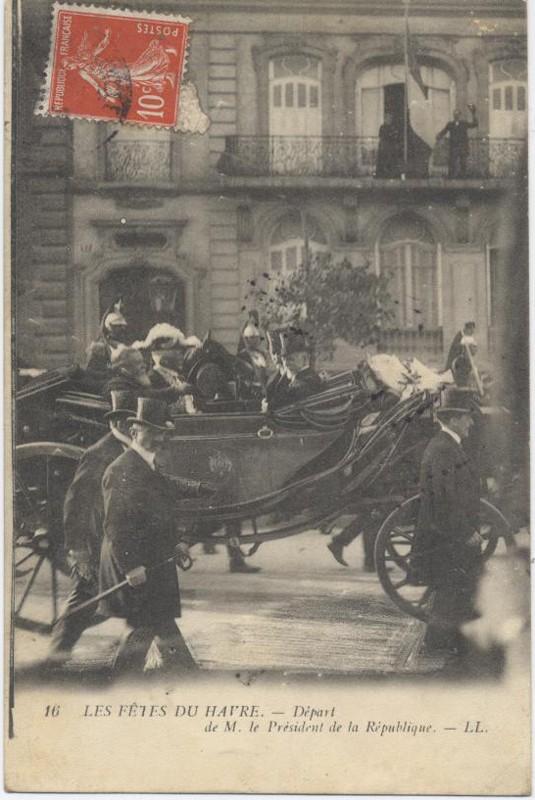 1909 - Visite du président Armand FALLIERES au Havre ... Presid11