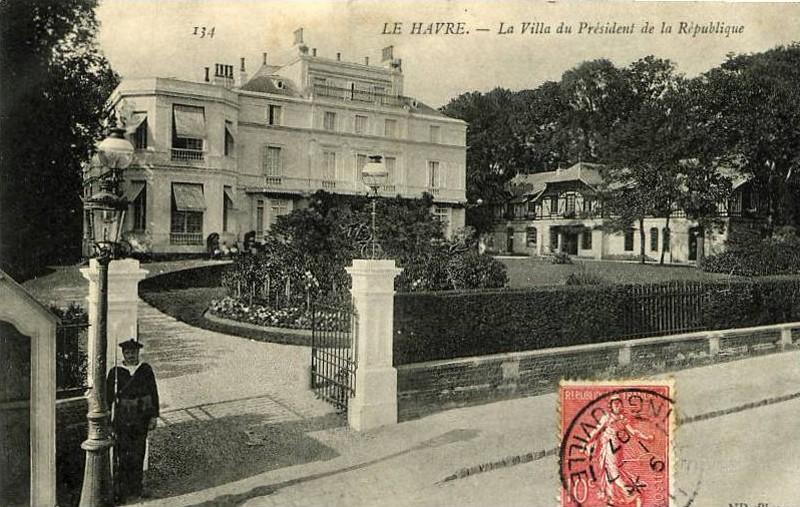 1909 - Visite du président Armand FALLIERES au Havre ... Villa-10