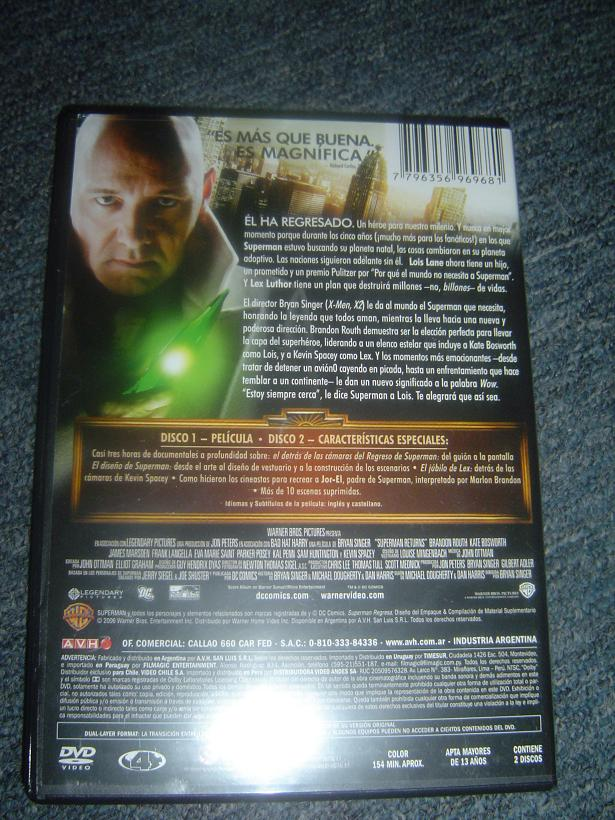 Mi DVD de Superman Returns Dsc05711