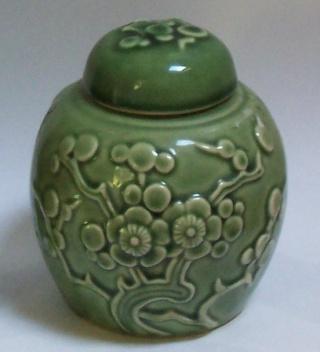 Kienhua green ginger jar Clp_gr11