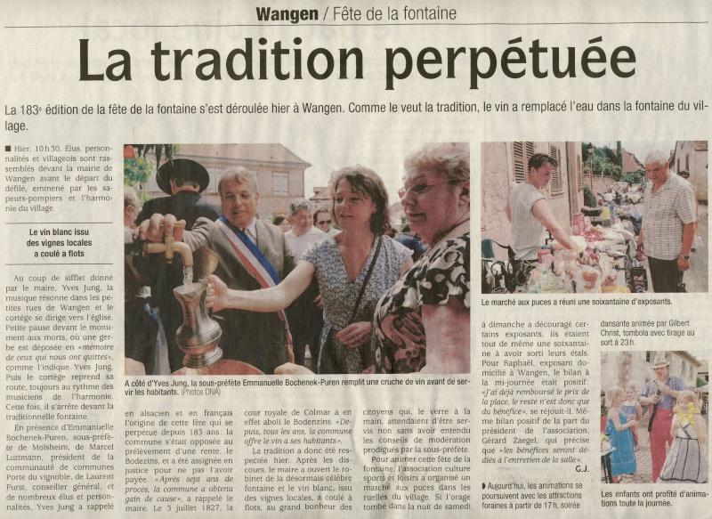Wangen: Fête de la Fontaine 2010 ,183 ans d'histoire ...dans le respect de la tradition Image018