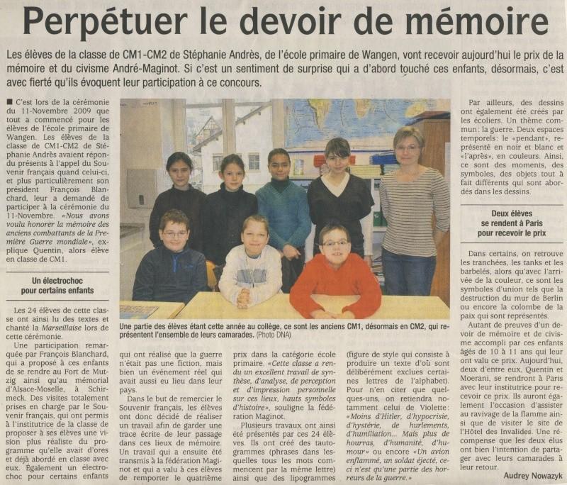 Prix National de la Mémoire et du Civisme  Image113