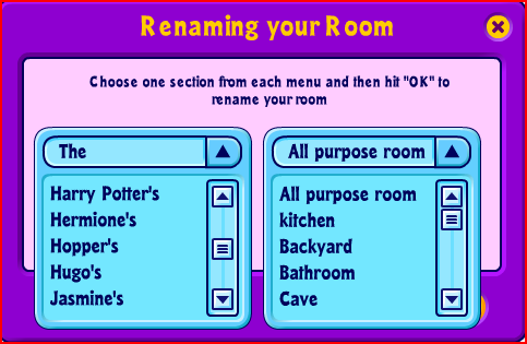 I can rename my room! Omg10