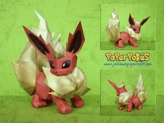 Spécialiste papercraft pokemon XD Flareo10