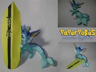 Spécialiste papercraft pokemon XD Vapore10