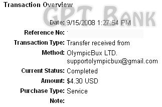 6th payment Olymgp11