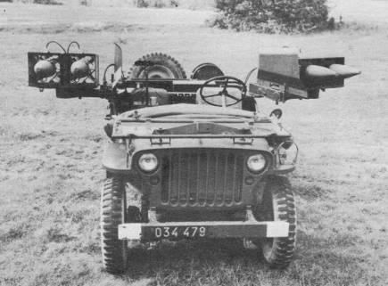 ENTAC le missile anti-char Français de 1958 à 1974, en Français et en Anglais. Jeep_e12