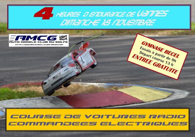 Course endurance électrique Vannes 18 novembre Affich10