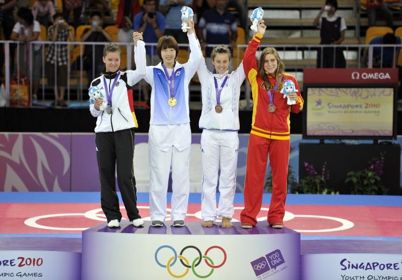 Jeux Olympiques de la Jeunesse - Singapour 2010 - Médaille de Bronze en Taekwondo (3eme Médaille) 0818-610