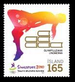 Timbre Islande (Athlétisme) - Jeux Olympiques de la Jeunesse Singapour 2010 0910