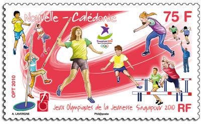 Jeux Olympiques de la Jeunesse - Singapour 2010 - Timbres 13100010