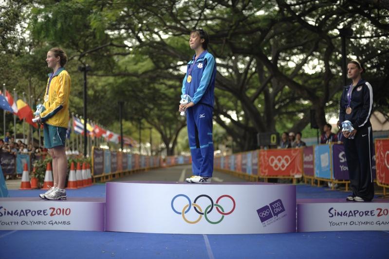 Jeux Olympiques de la Jeunesse - Singapour 2010 - 1er Podium en Triathlon 17187910