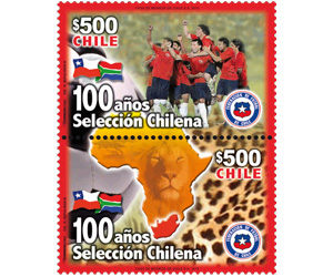 Timbres Chili - Coupe du Monde de Football FIFA Afrique du Sud 2010 200-1010