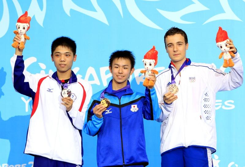 Jeux Olympiques de la Jeunesse - Singapour 2010 - MEDAILLE de Bronze en Tennis de Table (12eme médaille) _w9c0210