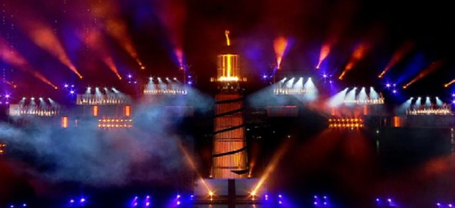 Cérémonie d'Ouverture des 1ers Jeux Olympiques de la Jeunesse, Singapour 2010 Cauldr10