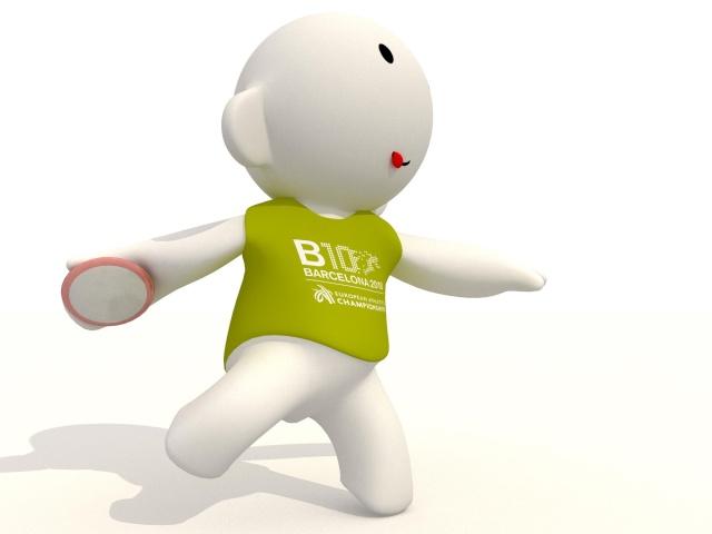 Barni !!! La mascotte des Championnats d'Europe d'Athlétisme outdoor 2010 Disc10