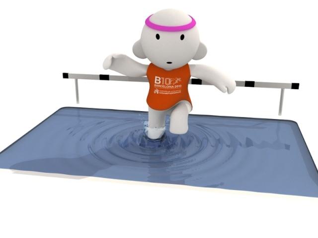 Barni !!! La mascotte des Championnats d'Europe d'Athlétisme outdoor 2010 Obstac10