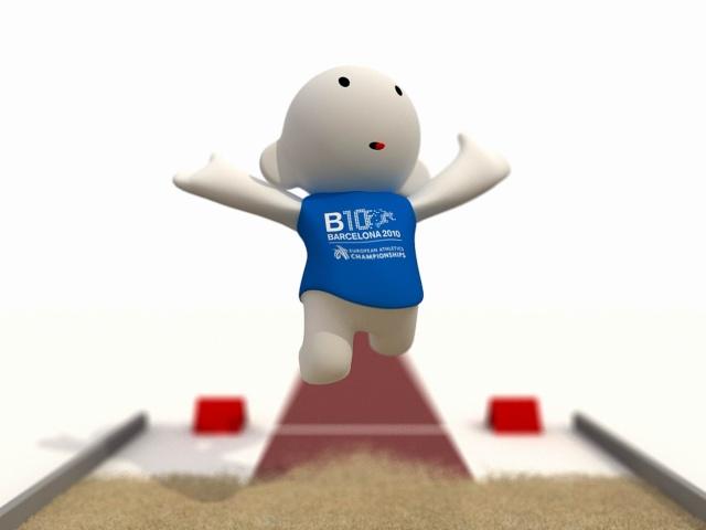 Barni !!! La mascotte des Championnats d'Europe d'Athlétisme outdoor 2010 Salt2011