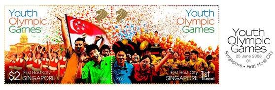 Jeux Olympiques de la Jeunesse - Singapour 2010 - Timbres Singap10