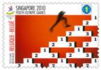 Timbre Belgique - Jeux Olympiques de la Jeunesse Singapour 2010 Tn_14_10