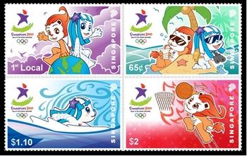 Jeux Olympiques de la Jeunesse - Singapour 2010 - Timbres Yogsta10