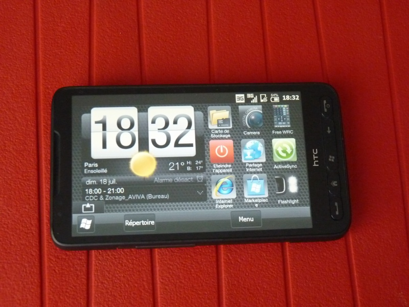[VENDU] HTC HD2 SFR - GARANTIE 2 ANS - PACKAGE COMPLET P1010310