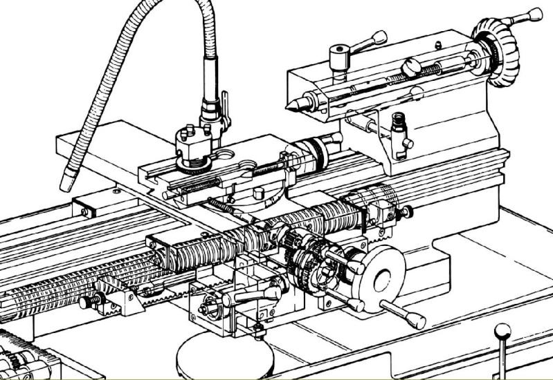 Coupe moteur schaublin Banc10