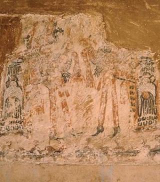 Guatemala : une peinture maya découverte sur les murs d'une cuisine Ces-pe10