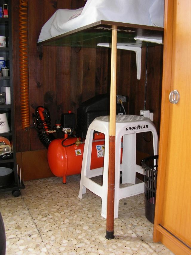 Soporte giratorio casero para trabajar en el cochecito: Sany0034