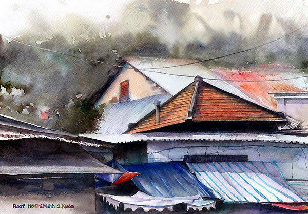 Việt Nam trong những bức tranh của họa sĩ Satoshi Kudo  12091411