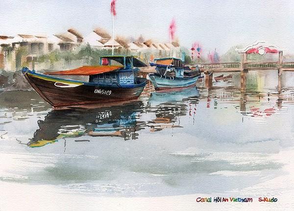 Việt Nam trong những bức tranh của họa sĩ Satoshi Kudo  12091413