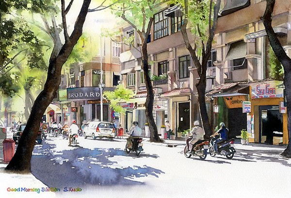 Việt Nam trong những bức tranh của họa sĩ Satoshi Kudo  12091414