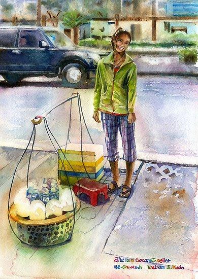 Việt Nam trong những bức tranh của họa sĩ Satoshi Kudo  12091416