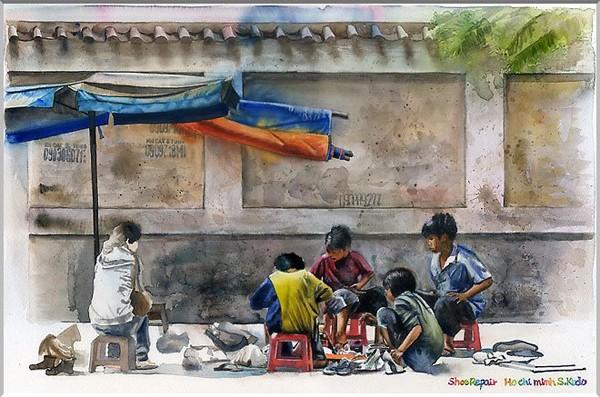 Việt Nam trong những bức tranh của họa sĩ Satoshi Kudo  12091418